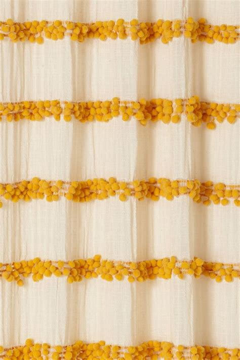 pom poms for curtains swing stripes curtain