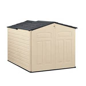 rubbermaid plastic slide lid outdoor storage shed 96