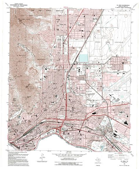 maps el paso texas el paso topographic map tx usgs topo 31106g4
