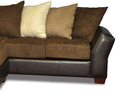 Sofas With Pillows Scatter Back Modern Sectional Sofa W Oversized Back Pillows