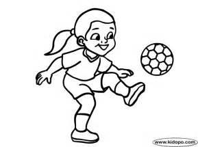 Girl Playing Soccer Coloring Page Image Search Results Kicking  sketch template