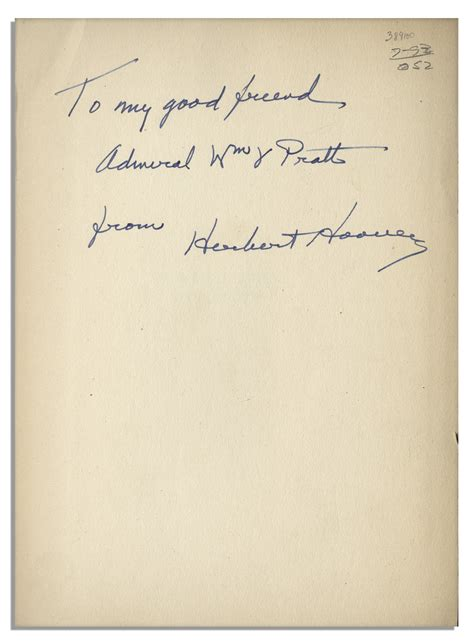 signed books lot detail herbert hoover signed edition book