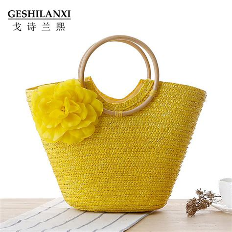 Handmade Straw Bags - 2017 new fashion and summer handmade straw bag