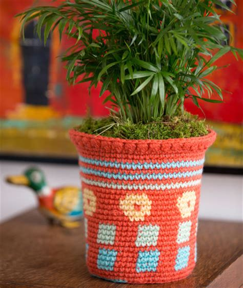 pattern of flower pot tapestry flower pot cozy red heart