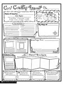 country report template cool country report fill in poster parents scholastic