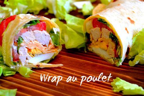 recettes wraps poulet