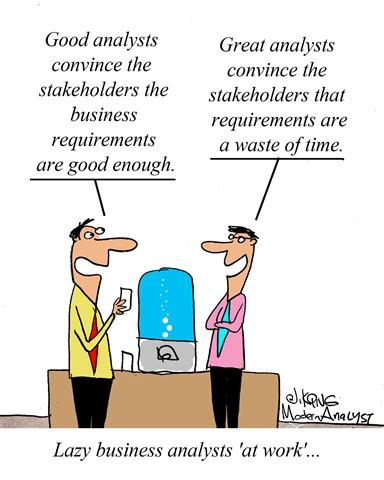 what information does an employee expect an employee humor lazy business analysts at work