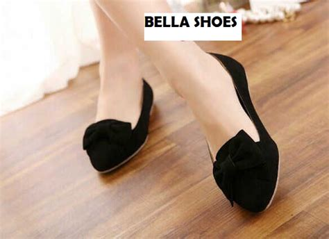 Sepatu Flatshoes Flat Wanita Khfl38 sepatu teplek wanita flat shoes hitam model terbaru murah