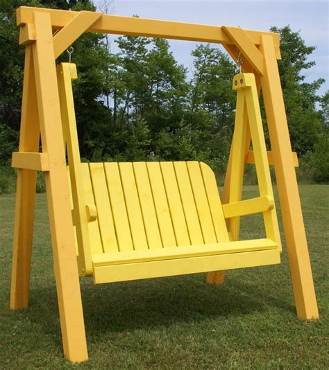 how to build a freestanding swing free standing porch swing plans woodworking projects plans