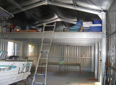 internal shed  mezzanine floor shed interior shed
