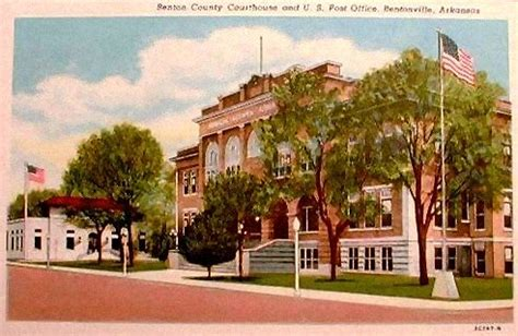Benton County Court Records Postcards Benton Co Ar