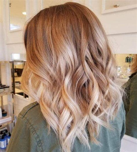 Trendy Haircuts Ideas Strawberry Bronde Balayage Bob By Kellymassiashair 50 Of The Most Trendy Strawberry Hair Colors For 2019