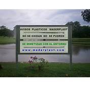 0 3  AVISOS Y SE&209ALIZACION EN PL&193STICO