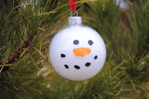 snowy snowman ornament craft