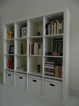 ikea expedit shelving unit in white for sale in singapore