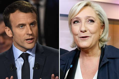 emmanuel macron marine le pen emmanuel macron projected to win first round of french
