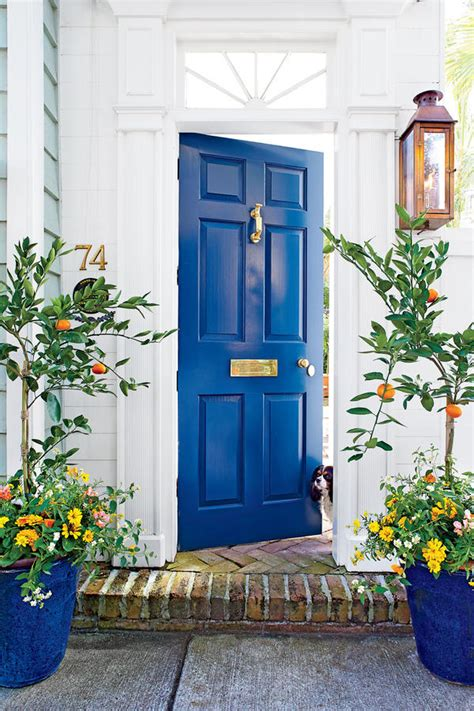 Blue Exterior Door 27 Best Front Door Paint Color Ideas Home Stories A To Z