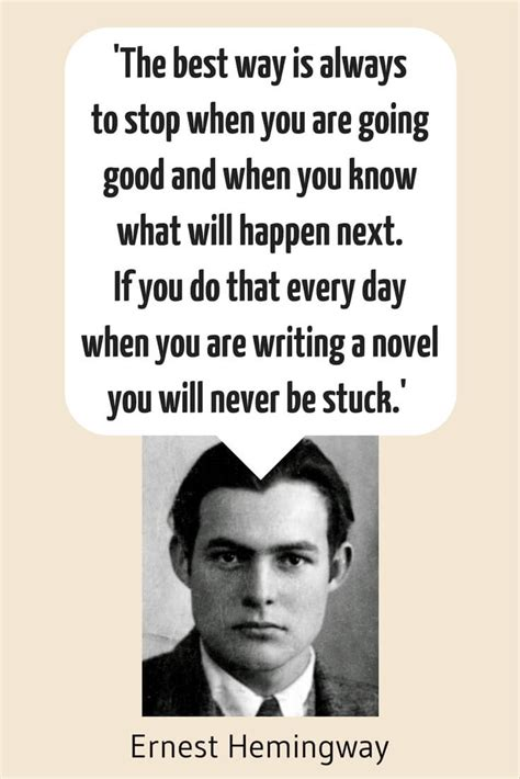 ernest hemingway biography resume how to get in the mood to write daily 9 tips now novel