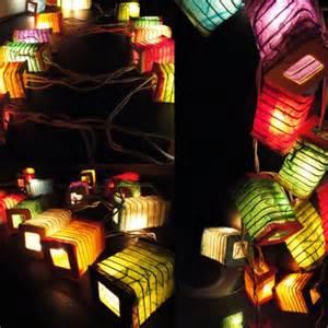 colored lantern string lights 20x multi design color paper lantern string
