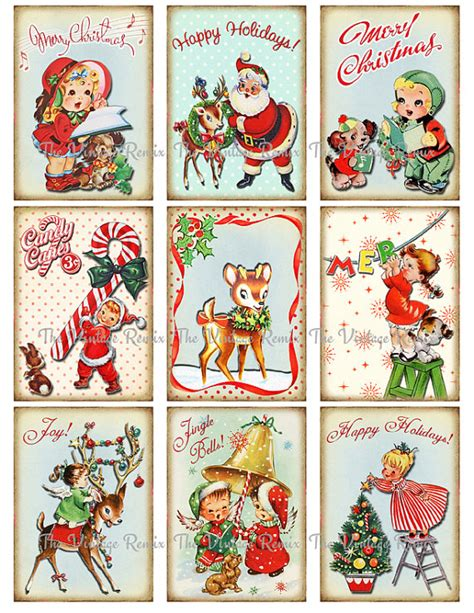 printable sheet of christmas tags free vintage printable christmas gift tags christmas