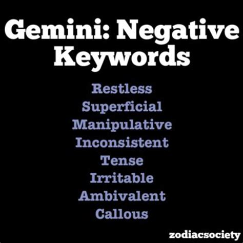 gemini negative traits gemini positive traits gemini