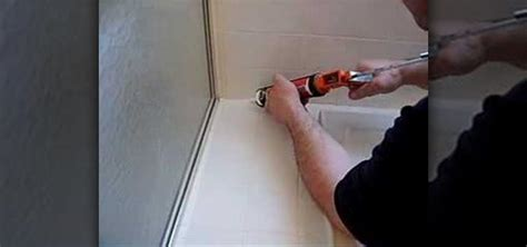 how to caulk your bathtub how to caulk your bathroom tub 171 construction repair