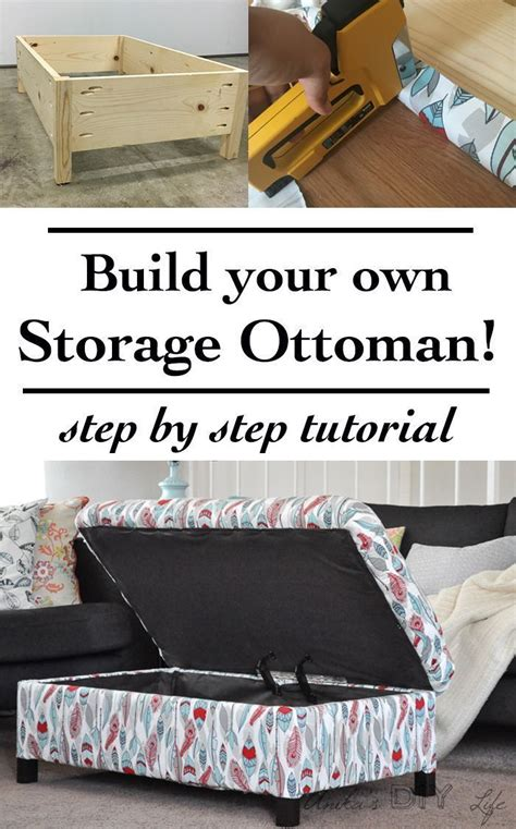 diy ottoman storage bed best 25 diy ottoman ideas on diy storage pouf