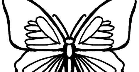 gambar mewarnai kupu kupu  anak paud  tk
