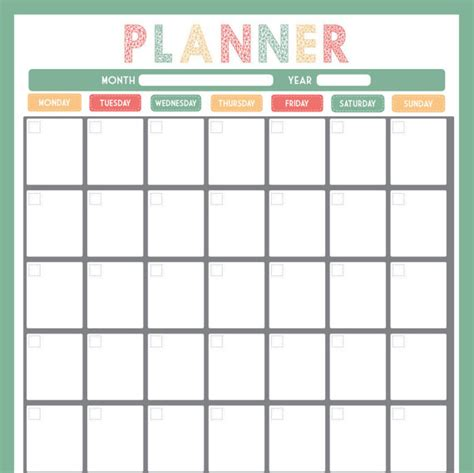 a3 printable monthly planner monthly calendar a3 arrow print use as dry by