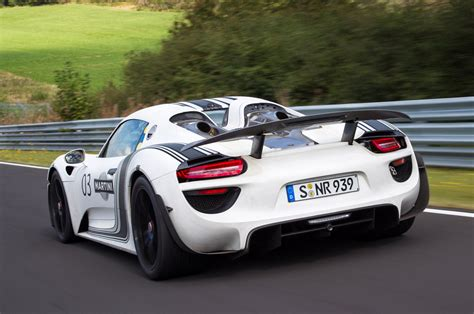 porsche car 918 porsche 918 spyder officially priced from 845k weissach