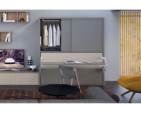 letto e armadio letto a scomparsa orizzontale con scrivania basculante e