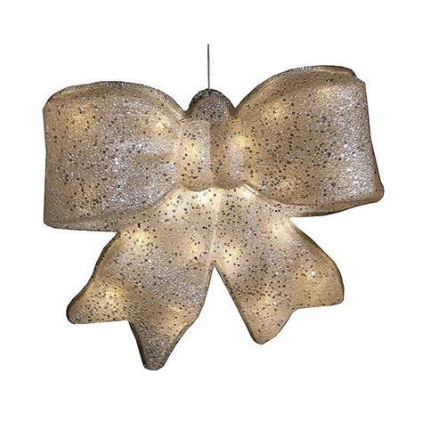 outdoor red battery lighted bows battery operated lighted 15 quot glittering bow outdoor yard decor ebay