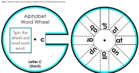 How To Make A Paper Wheel That Spins - cut the word wheel and attach both parts with paper
