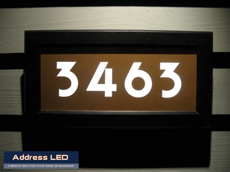 led lighted address signs 29 best address led illuminated house numbers images on