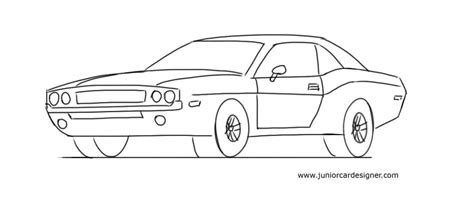 how to draw a car junior car designer