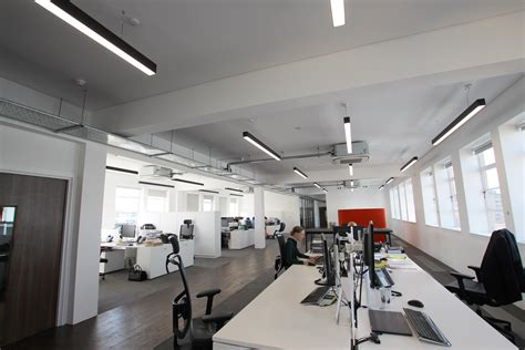 Office Light by Slim Linear Office Lighting For Office Refurbishment
