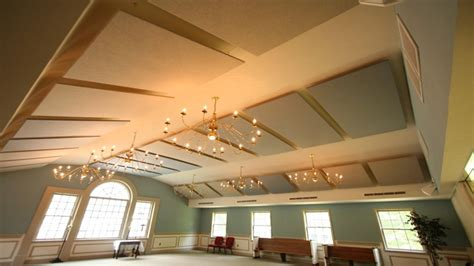 Ceiling Noise by Worship Facilities Melfoam Acoustics