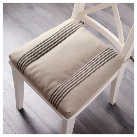ikea black chair cushion ullamaj chair cushion beige black 35 43x37x7 cm ikea