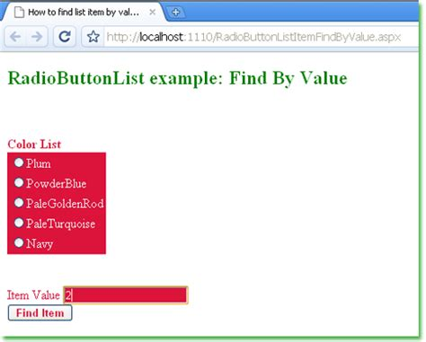 asp net how to find an item by value from a radiobuttonlist