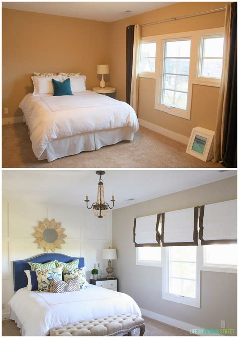 before and after bedroom makeovers guest bathroom makeover before and after on