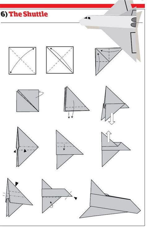 How To Make An Origami Paper Airplane - how to make 12 types of paper airplane
