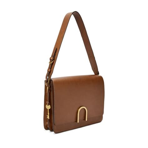 Fossil Ew Pw Bright Crossbody Leather brown leather bag fossil