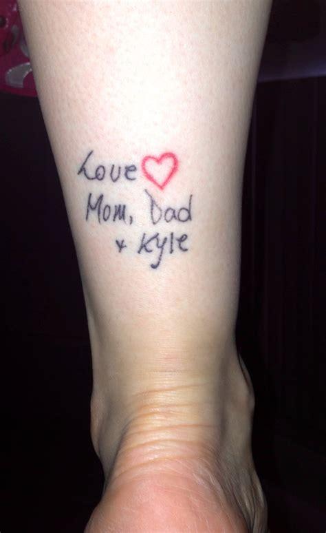 handwritten tattoos 25 best ideas about handwriting tattoos on