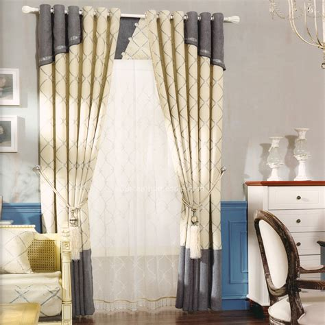 Gray And Beige Curtains Grey And Beige Chenille Room Darkening Bedroom Curtain 2016 New Arrival
