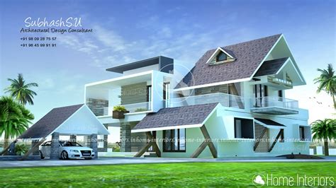 modern house plan 2800 sq ft kerala home design and 2800 square feet double floor contemporary home design