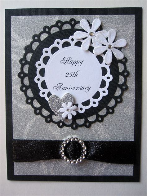 Handmade 25th Anniversary Cards - handmade 25th anniversary card by bellacardcreations