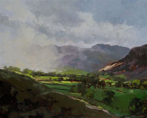 Landscape Artists Northern Ireland Mccann Great Langdale Painting Entry