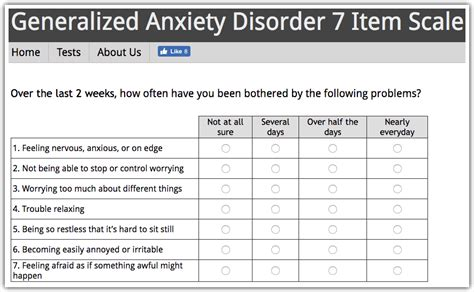 anxiety test generalized anxiety disorder test gad anxietyhub