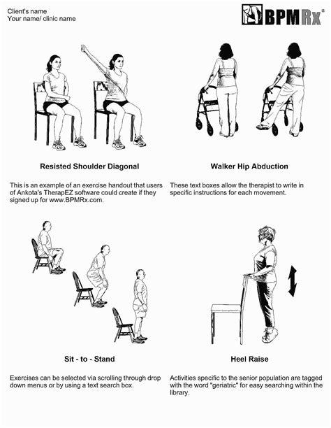 printable home exercise program for elderly senior chair exercises printable chairs seating