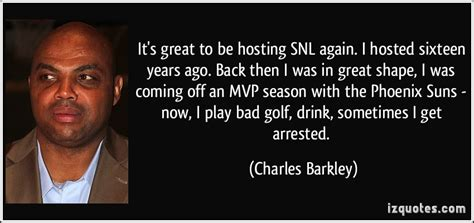 charles barkley golf swing snl it s great to be hosting snl again i hosted sixteen years
